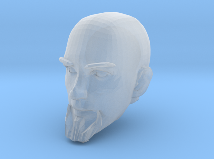 Bald Head with facial hair 2 3d printed Recommended