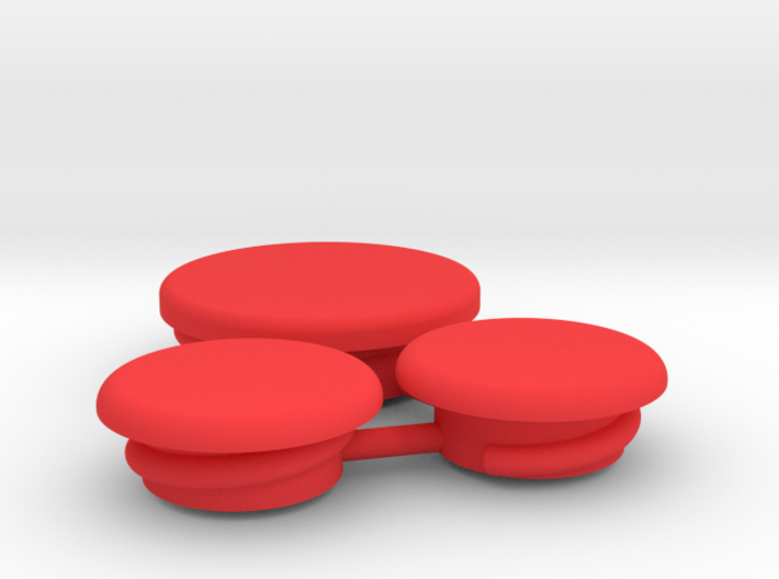 Thumbwheel Screw Caps Set (Part CP123) 3d printed