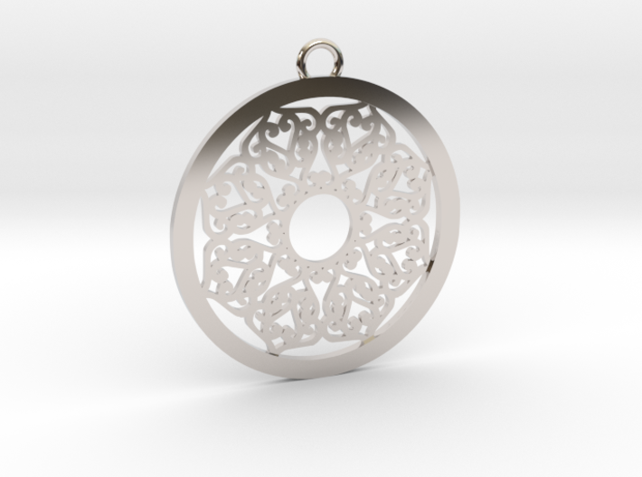 Ornamental pendant no.2 3d printed