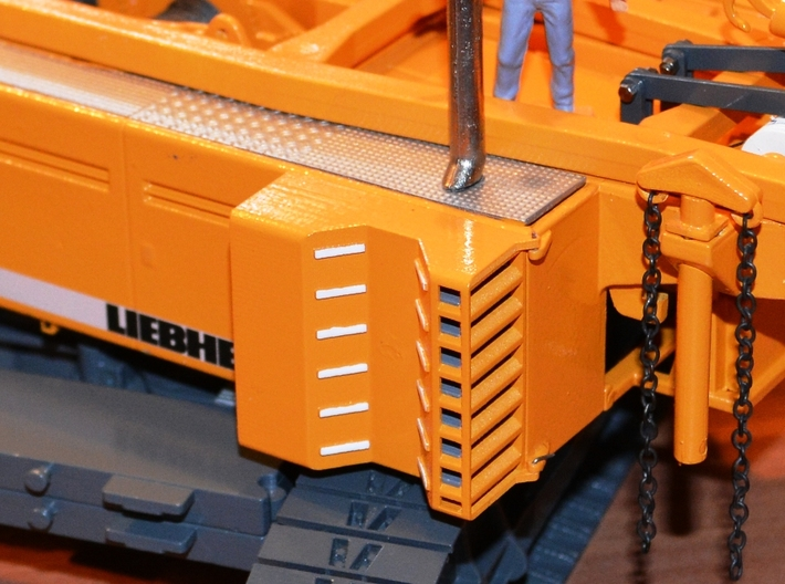 Liebherr HS895HD cooling housings 3d printed Working position (ready built and painted model shown)