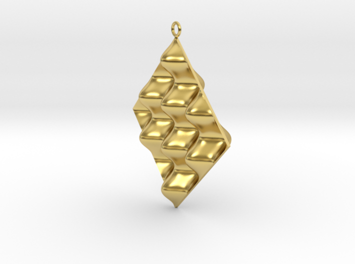 Sine Wave product Earring 3d printed