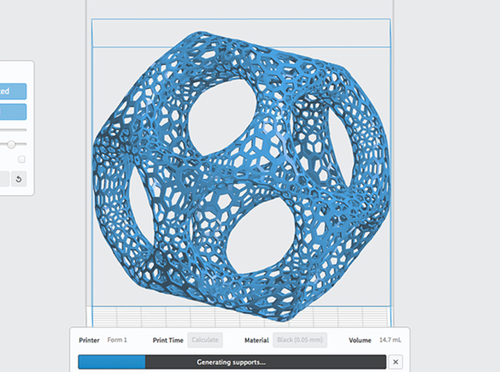 Nature-inspired Structure 3d printed PreForm Software