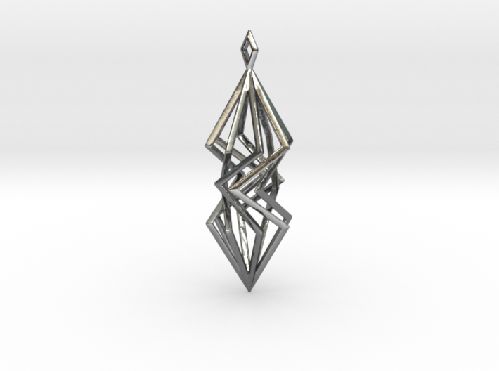 twisted prism pendant 3d printed
