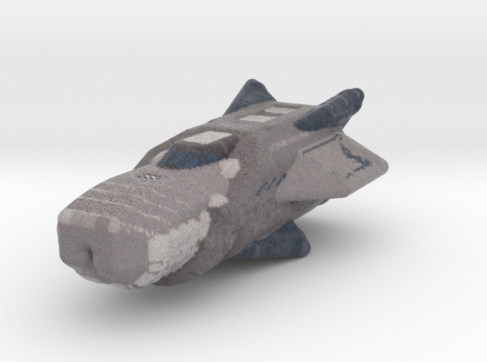 Frigate spaceship color 3d printed