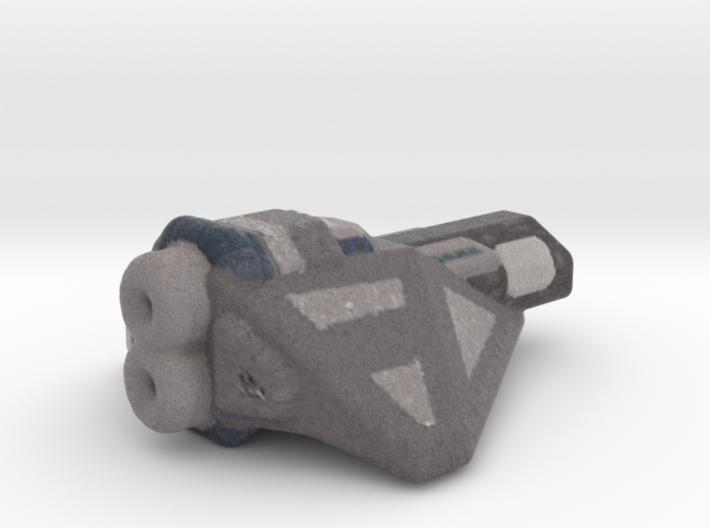 Destroyer spaceship color 3d printed
