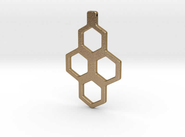 Honeycomb Necklace-35 3d printed