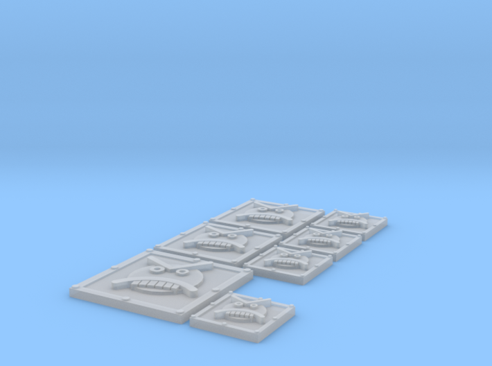 Angry Marines Vehicle Icons 3d printed