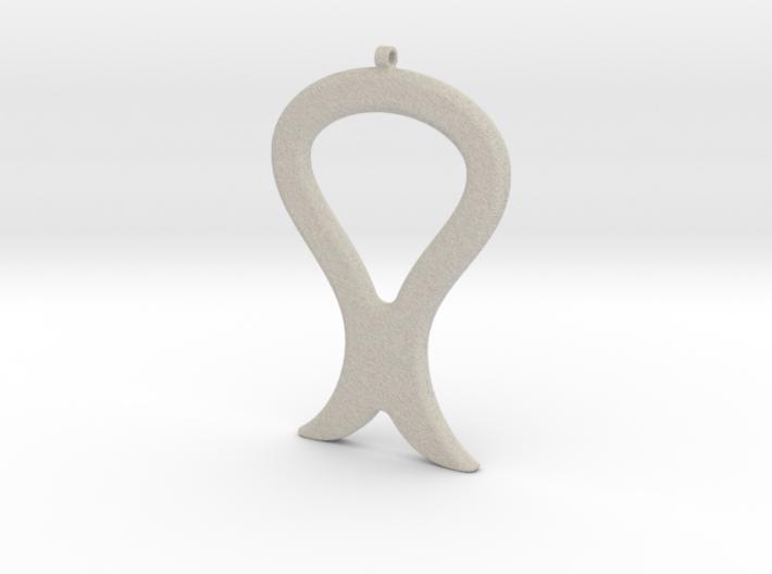 Tulip Pendant / Necklace-30 3d printed