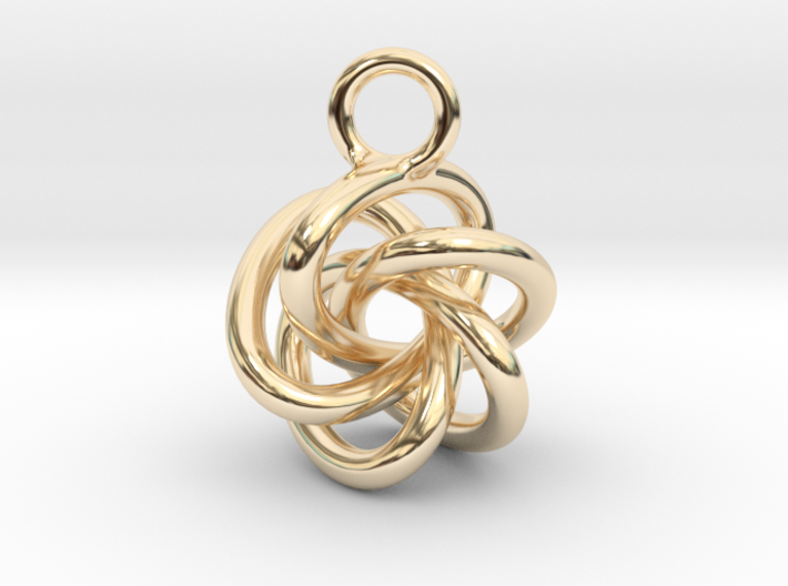 5-Knot Earring 15mm wide 3d printed
