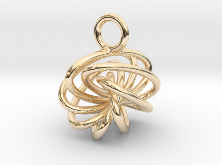 7-Knot Earring 10mm wide 3d printed