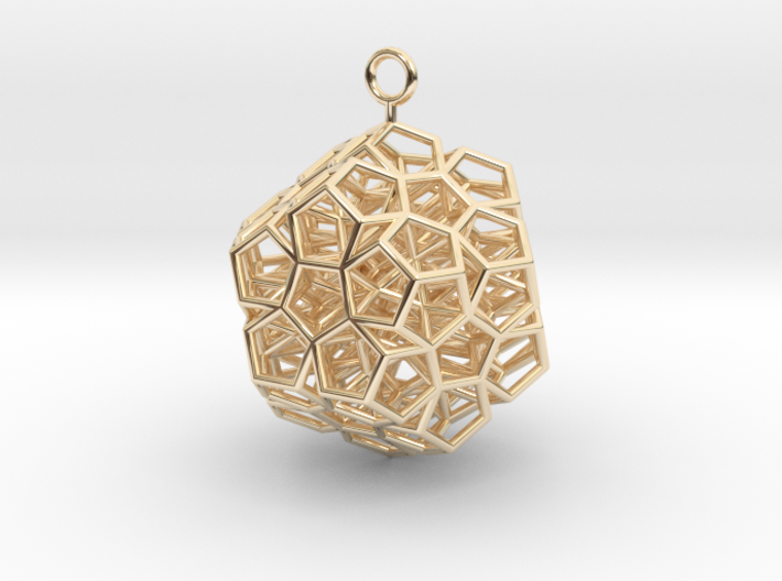 Level 2 Sierpinski Dodecahedron earring (medium) 3d printed