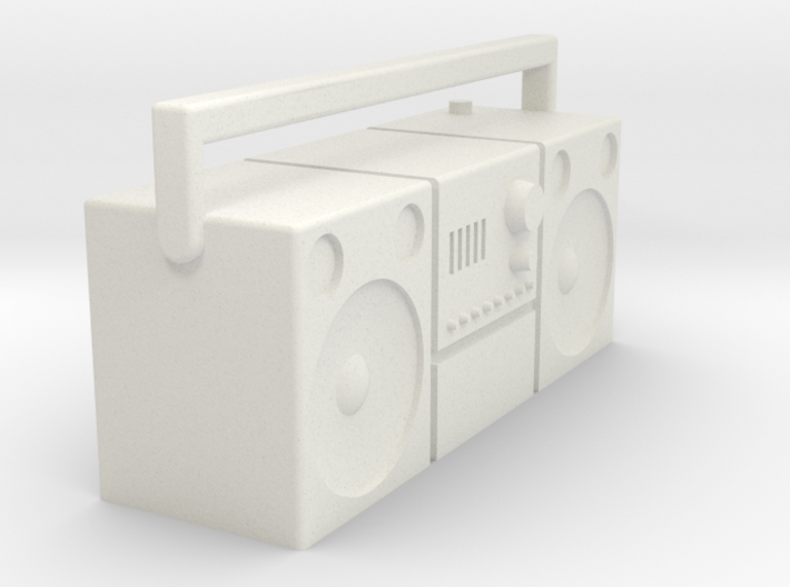 1/16 Radio cassette player, old type 3d printed
