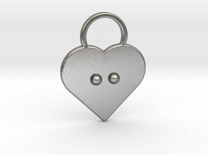 """""""c"""" Braille Heart 3d printed"""