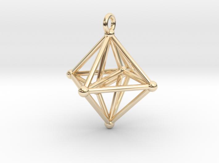 Hyperoctahedron Pendant 3d printed