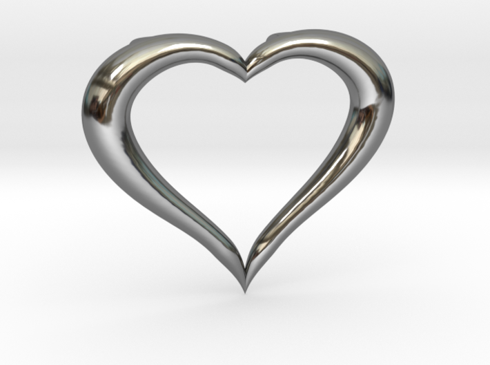 Love Heart Necklace 3d printed