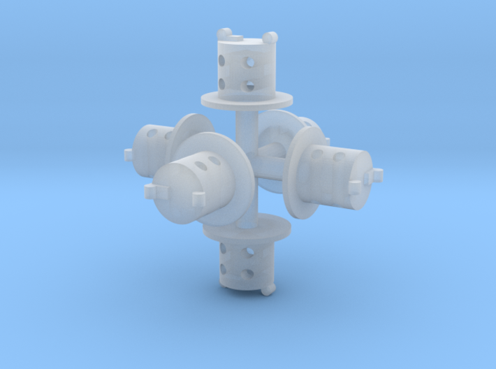 5mm oil lamp set 3d printed