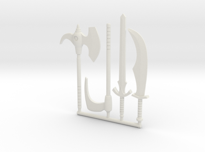 Galaxy Warriors Weapons (3mm, 4mm, 5mm) 3d printed