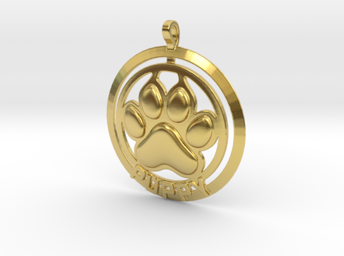 Puppy Tag 3d printed