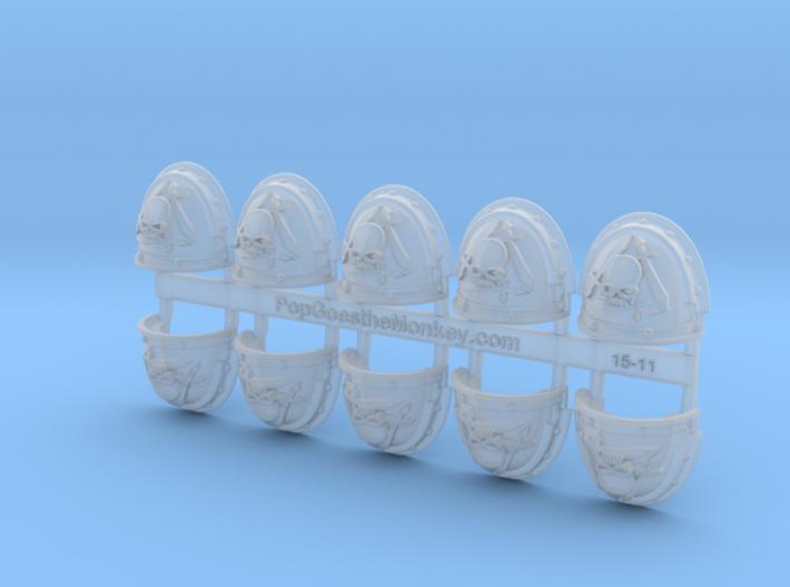 Silver Guard- G3 Shoulder Pads x10 3d printed