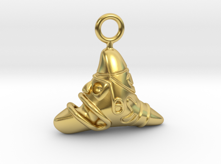 Taíno Cemí earring or pendant 3d printed