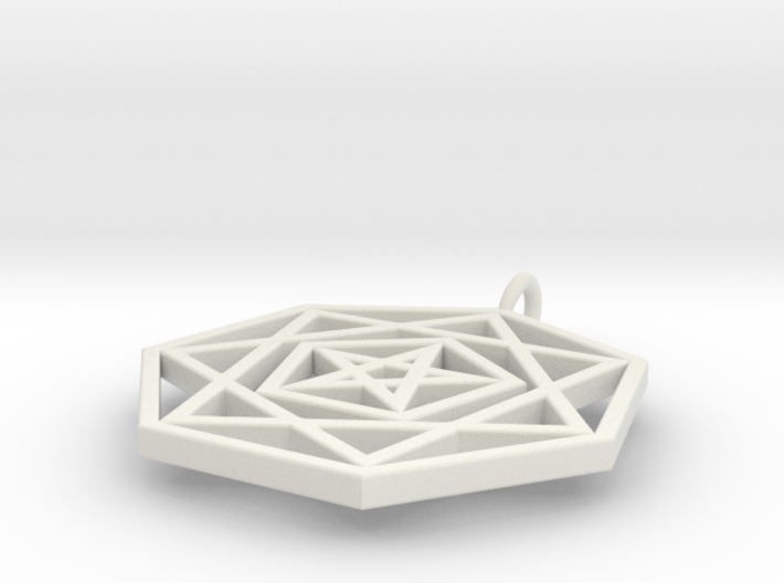 HeptaPenta Amulet 3d printed