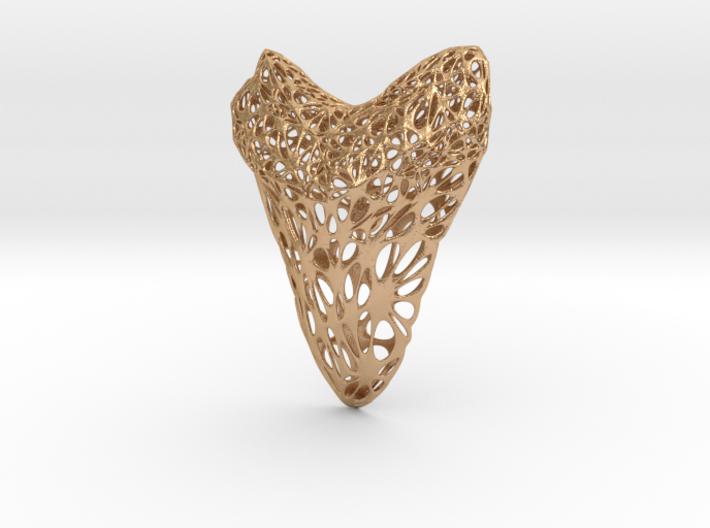 Shark Tooth Voronoi Pendant 3d printed