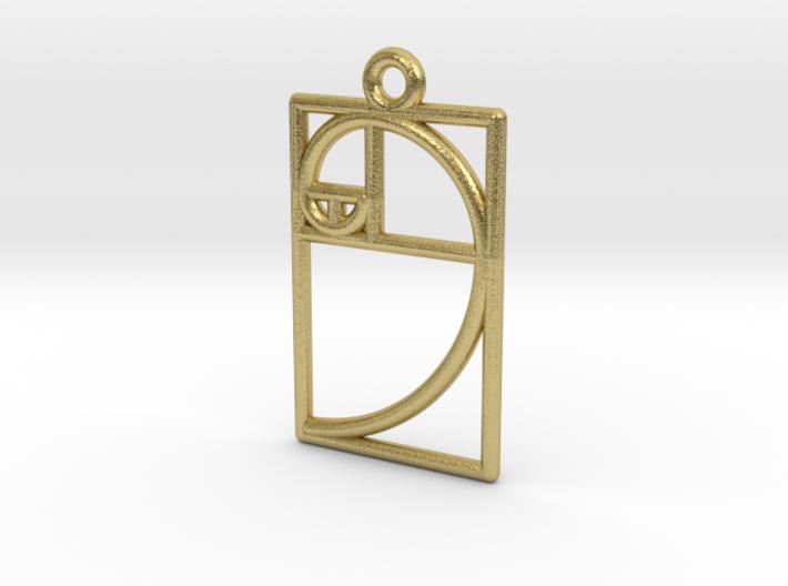 Golden Ratio Pendant 3d printed