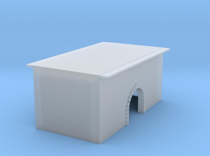 Wasserdurchlasstunnel Brücke gemauerter Bogen 1:16 3d printed