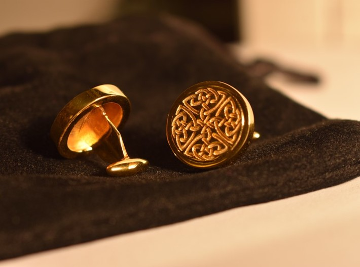 Dara Celtic Knot cuff links 3d printed