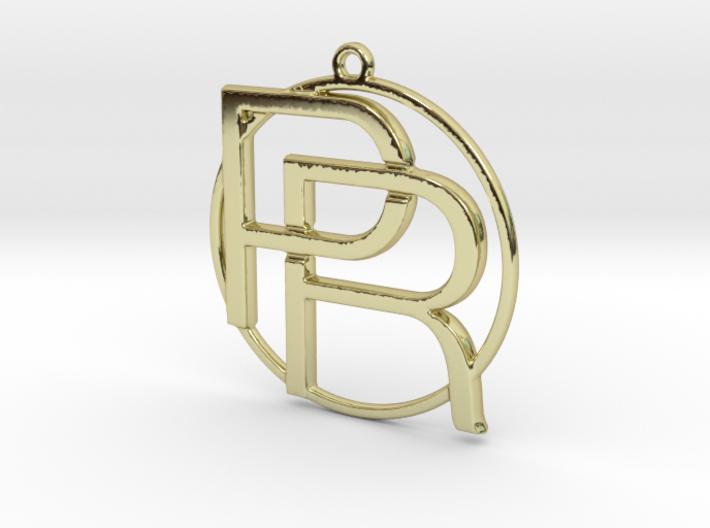 P&R Monogram 3d printed