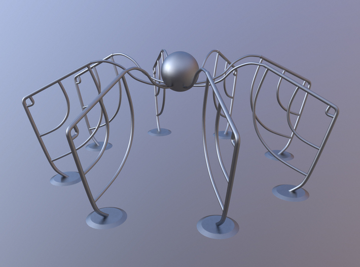 Abstract Spider Figure 3d printed Marmoset Toolbag 2 Render