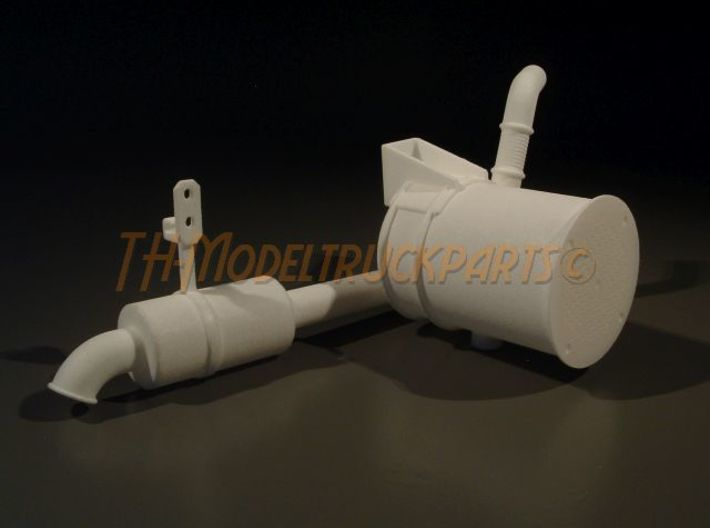 THM 00.5202 Exhaust pipe rear Tamiya Volvo FH12 3d printed
