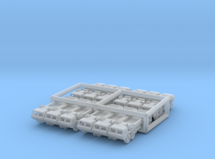 HEMTT Cargo Truck And Tanker Convoy 3d printed
