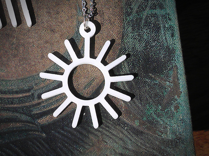Sunny Day - Weather Symbol Pendant 3d printed