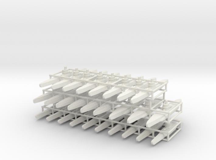 U-boat fleet 3d printed