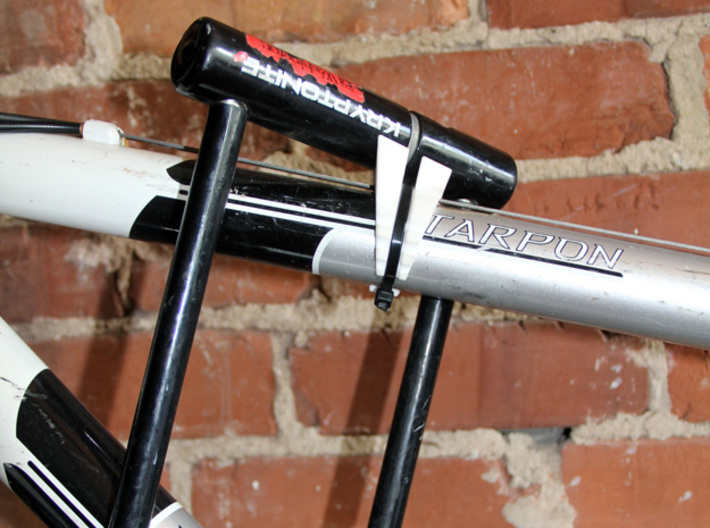 Ulock Mount 30degree 3d printed Cradle supports U-lock to keep it off the bike frame
