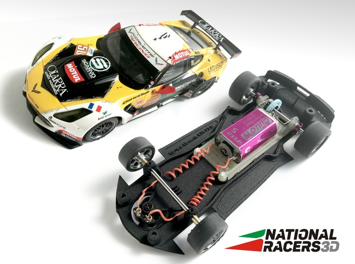 3D Chassis - Carrera Chevrolet C7.R (Combo) 3d printed Chassis compatible with Carrera model (slot car and other parts not included)