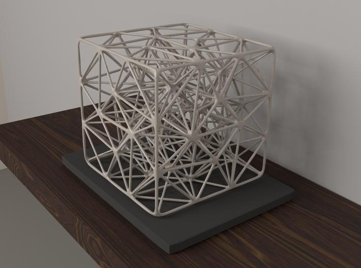Cube Mesh Organic 3d printed