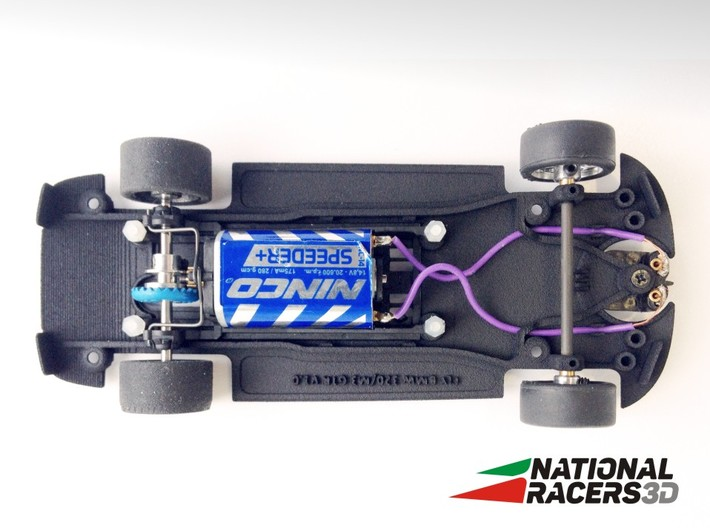 3D chassis for Fly 320i/M3 GTR (Inline) 3d printed