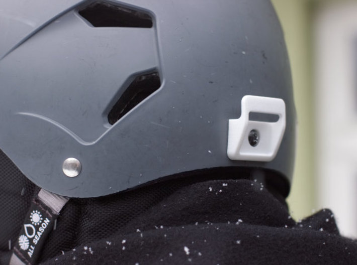 Clip-on Light Mount - compatible with Bern helmets 3d printed