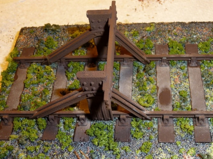 LNER Railbuilt Buffer Stop 3d printed The finished model