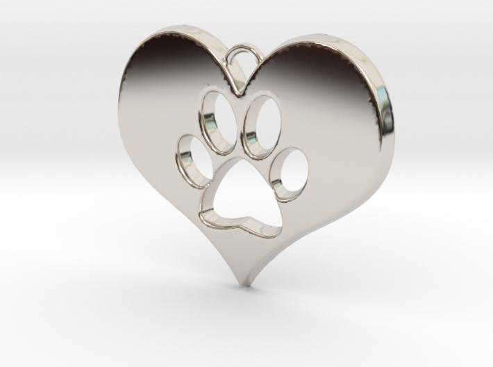 Paw Print Heart 3d printed