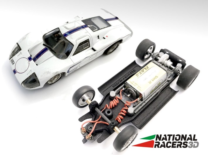 3D Chassis - MRRC Ford GT40 MK4 (Inline) 3d printed Chassis compatible with MRRC model (slot car and other parts not included)