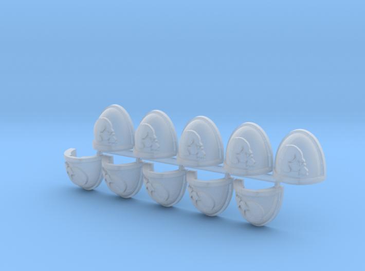 Skull Mk7/8 Shoulder Pads x10 R 3d printed