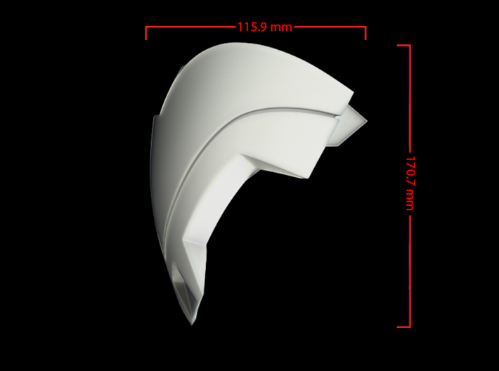 Iron Man Mark IV Shoulder Armor (Outer Right) 3d printed CG Render (Front Measurements)