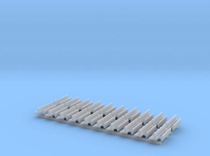 N Gauge Bench Seat Kit Type 4 3d printed