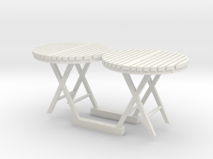 c-1-35 cafe table with slatted top 1/35th scale 3d printed