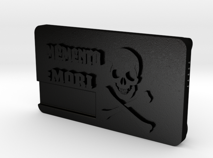 """Memento Mori"" Belt Buckle 3d printed"