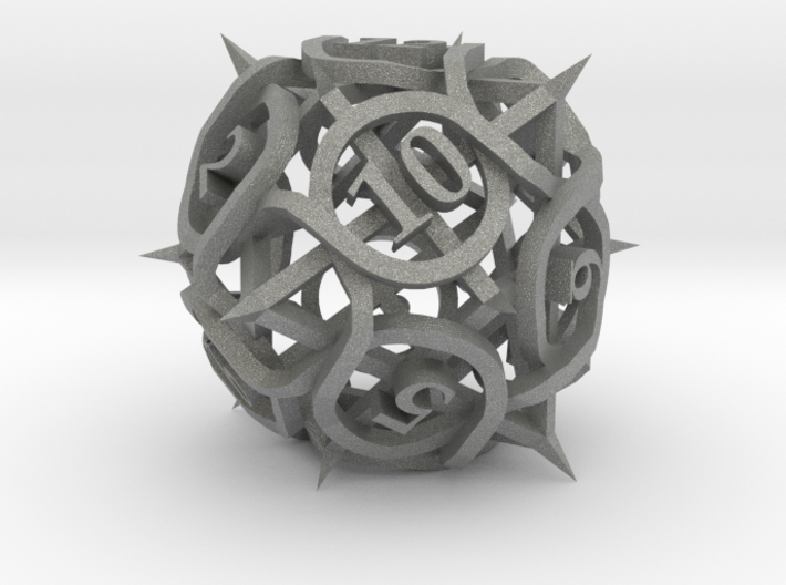 Thorn d12 Ornament 3d printed