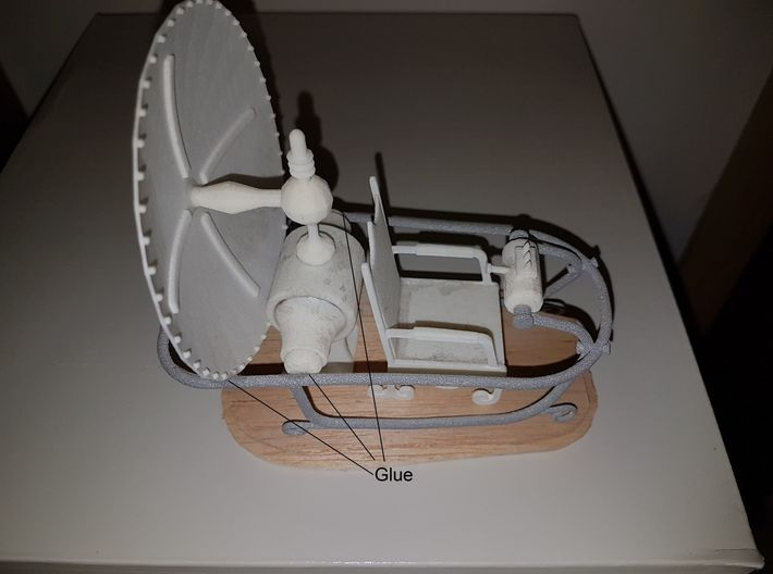 Time machine - 1 of 3 3d printed Final asseìmbly